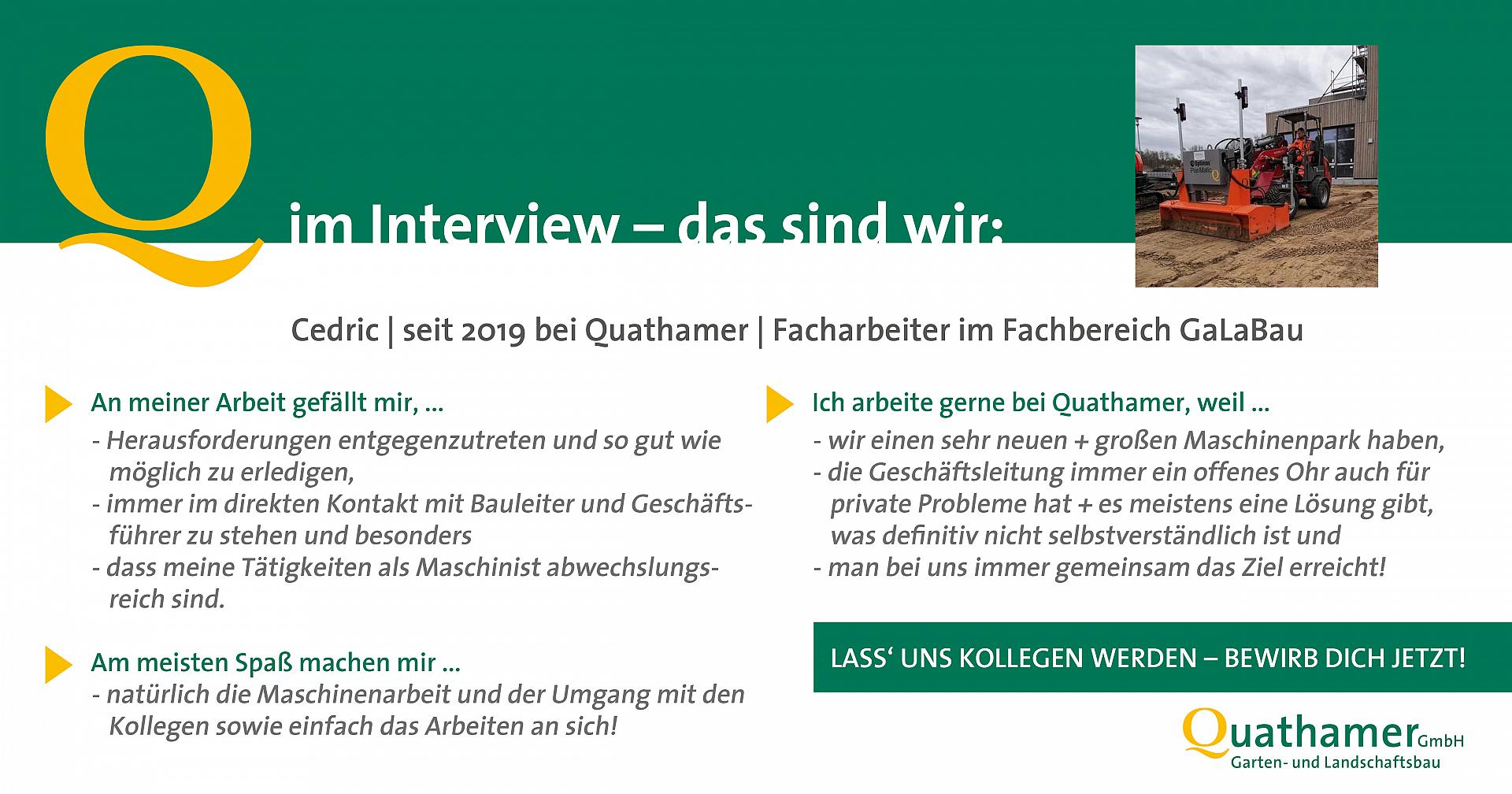 Interview mit Cedric